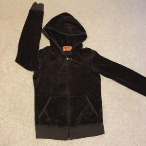 Girls Juicy Couture brown velour jacket
